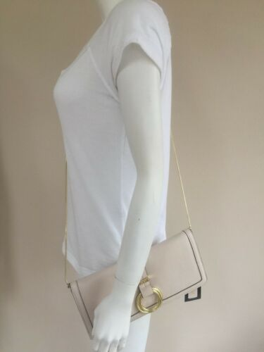 Clutch Nude Biba Bnwt Bag Leather Bone Grained Shoulder 8wgqIw