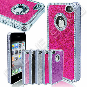 New-Luxury-Crystal-Diamond-Glitter-Cover-Bling-Chrome-case-for-iphone-4-4s-5-5s
