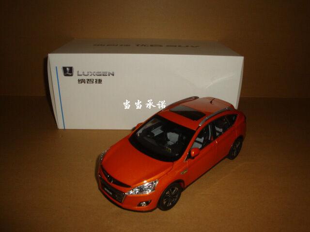 1 18 Dongfeng Yulon LUXGEN U6 Sport Utility Vehicle Modelo Color Amarillo + Regalo