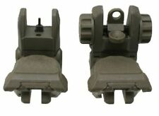 .223 5.56 Tactical Polymer Front And Rear AR Flip Up Sight Set OD Green