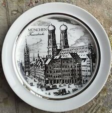 "Vintage Royal KPM Porzellan Bavaria Germany ""Munchen Frauenkirche"" Wall Plate"
