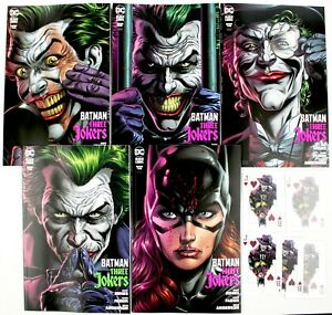 BATMAN-THREE-JOKERS-2-SET-OF-5-REG-PREMIUM-COVERS-5-Playing-Cards-w-Mylites-NM