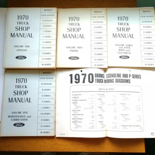 1970 Ford Truck Shop Manual Vol 1