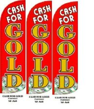 Cash For Gold Red King Size Windless 38 X 138 In Polyester Swooper Flag 3 Pk