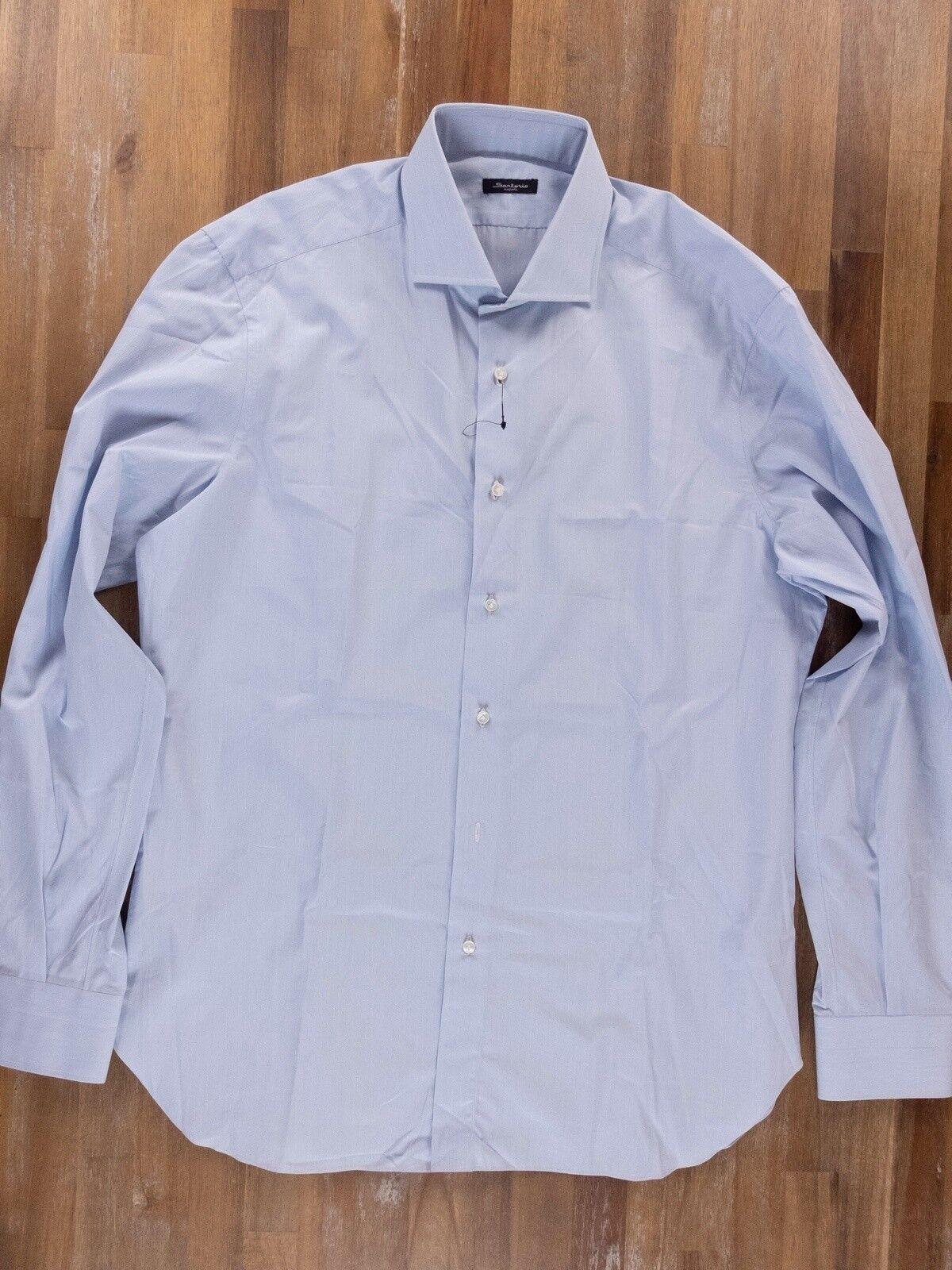 SARTORIO KITON striped cotton dress shirt authentic - Größe 43 / 17 - NWOT