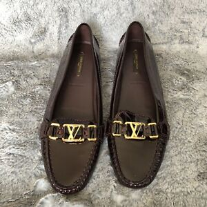 NEW-725-Louis-Vuitton-Oxford-flat-Loafer-Patent-Leather-size-39-5-Amarante