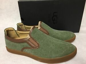 7c42c8d2fa4 Details about UGG Australia Mateo Canvas Slip On Sneakers 1016748 Burnt  Olive Green Mens shoes