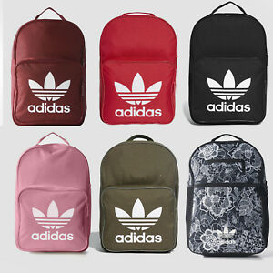 2cd401f6f5 Image is loading Adidas-Originals-Trefoil-Logo-Backpack-Classic-Bookpack- School-