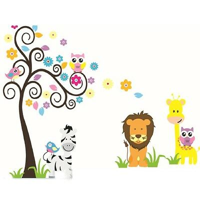 Wall Sticker Animal & Tree Removable Mural Decal Art DIY Home Room Decor Vinyl