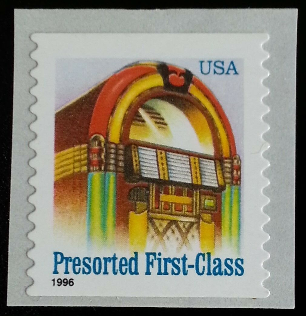 1996 25c Juke Box, American Designs, Coil Scott 2912a M