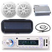 Pyle Marine Am Fm Remote Receiver, 2x 6.5'' Speakers, Radio Shield, Antenna,amp on sale