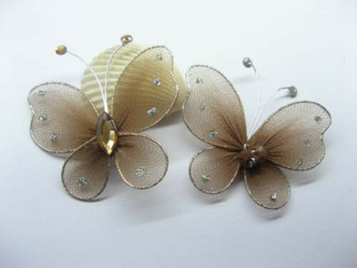 100 Coffee Butterfly Fairy Wing Crafts Embellishments