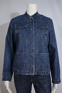 Sonoma-Misses-SMALL-Blue-Denim-Tailored-Casual-Jacket