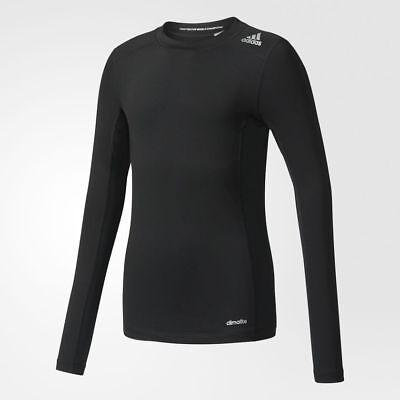 KüHn Adidas Performance Boy's Techfit Long Sleeved Black Sports Baselayer S27927