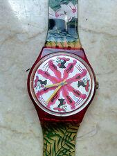 """orologio swatch STANDARD GENT modello """"CHICCHIRICHI""""GR112 anno 1992 USATO"""