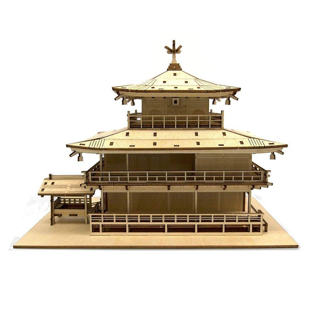 Templet Kinkakuji Azone ki -gu -mi träen konst 3D pussel modellllerler Kit från japan kyoto