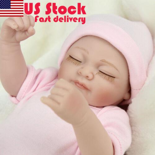"10/"" Handmade Lifelike Reborn Dolls Full Silicone Body Baby Girl Dolls XMAS Gift"