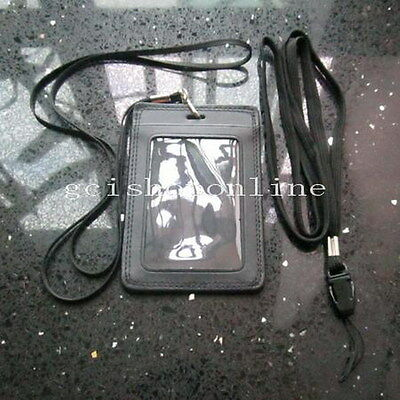 One genuine leather ID Card Holder badge and Two Strap Lanyard UKGBPP