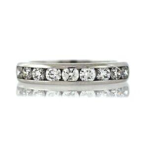 Tiffany-amp-Co-Platinum-Diamond-Half-Eternity-Ring-Sz-5-25