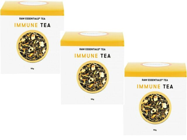 3 x 50g Raw Essentials Tea Immune Loose Leaf Tea 150g * COLD AND FLU IMMUNITY