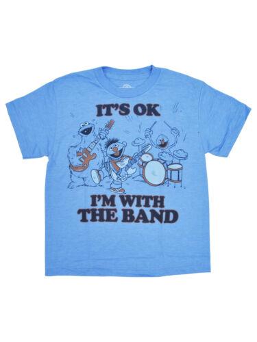 Chicos Sésamo Banda De Grupo-Camiseta manga corta azul