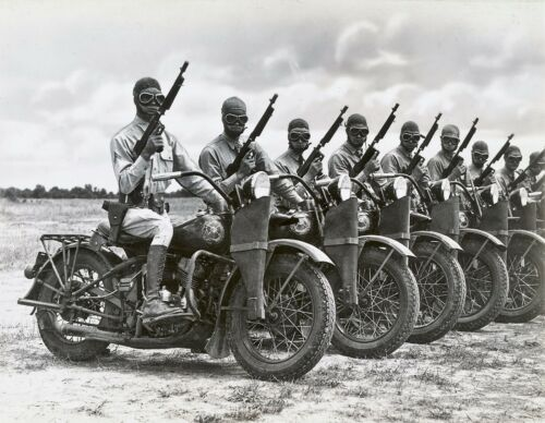 Harley Davidson WWII Motorcycle Army Poster Art Photo U.S Military 11x14 16x20