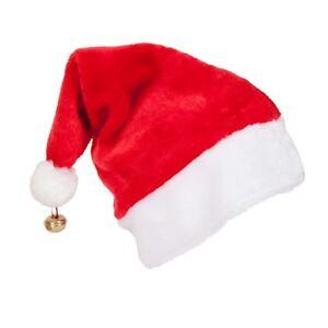 De Luxe Père Noël Chapeau Adultes pour Hommes Femmes Accessoire ... 989ae427746d