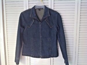 Company ELLEN TRACY Womens Ladies Denim Blue Jean Jacket Size 12 ...