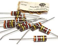 10x Allen Bradley Widerstand, 3.9 kOhm / 2W, Vintage Tube Amp Resistors, NOS