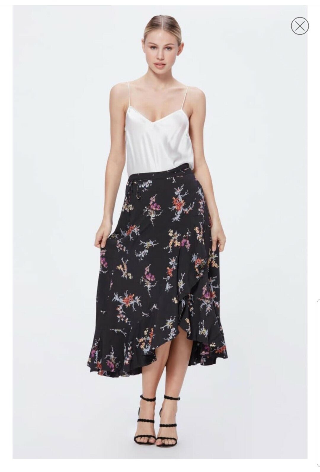 Ex Hobbs Black Mulit Nora Stripe Skirt Size 14 SF