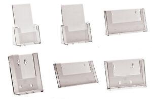 Wall Mount Leaflet holders Menu Dispensers DL A6 A5 /& A4 Portrait /& Landscape
