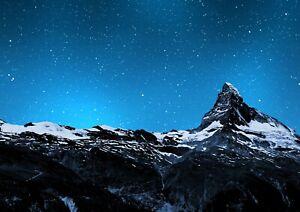 Cool-Matterhorn-Mountain-Peak-Poster-Size-A4-A3-Landscape-Poster-Gift-8581