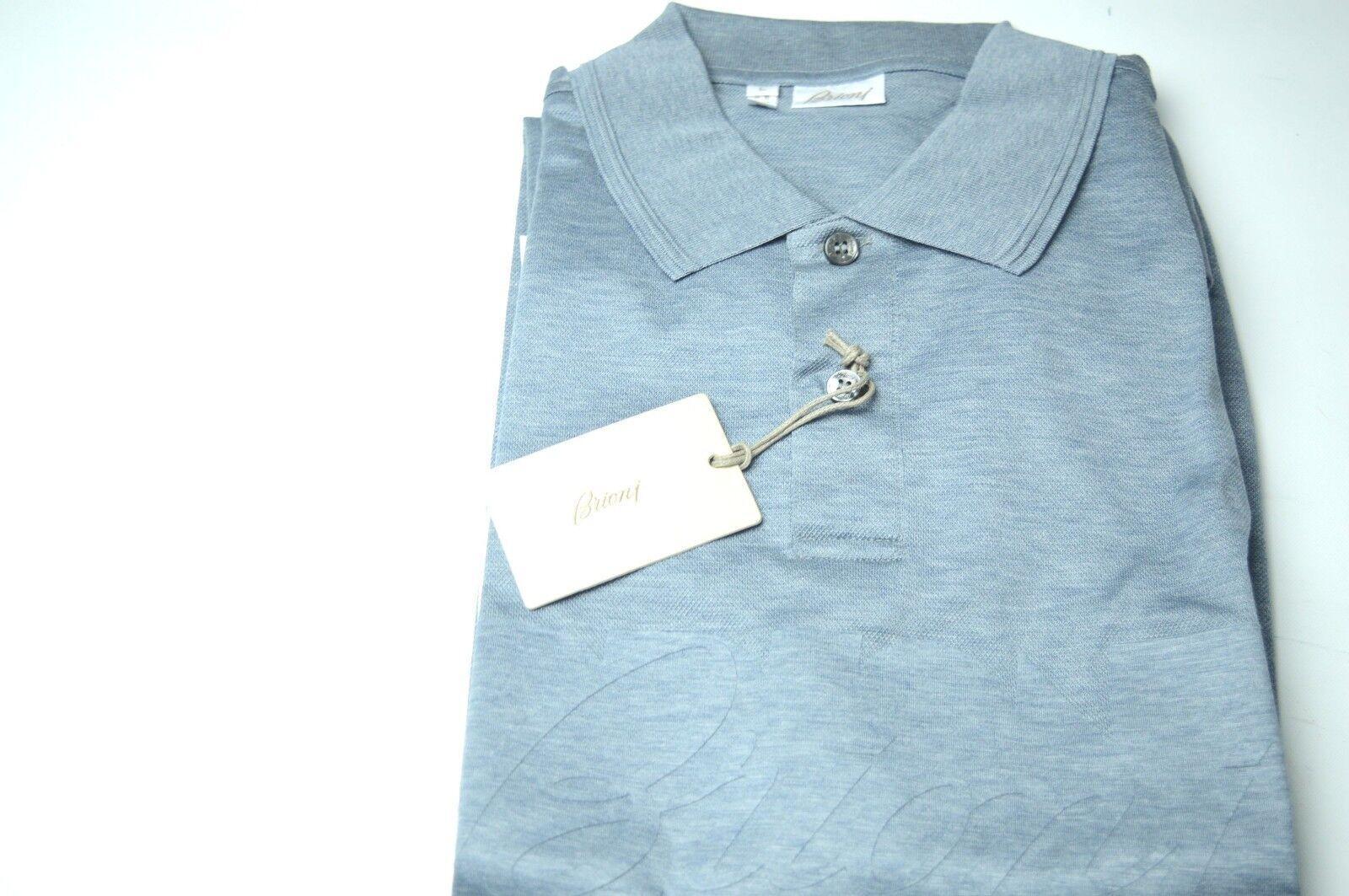 NEW  BRIONI Polo  Short Sleeve Cotton Größe L Us Eu 52 (SpNidodape)