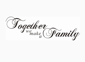 Together We Make A Family Living Room Wall Stickers Wall Quotes Wall Art Uk 32sh Ebay