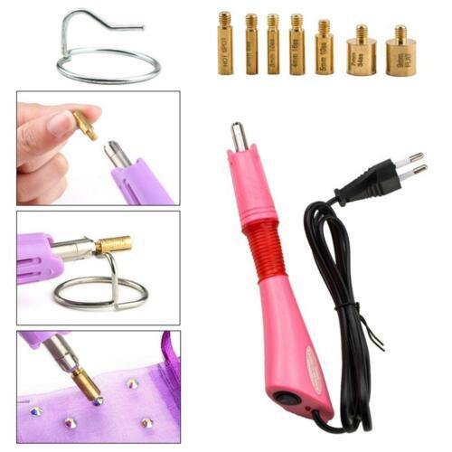 2000Pcs Hotfix Rhinestone Applicator Iron-on Wands with 7 Tips Manicure Tool;,