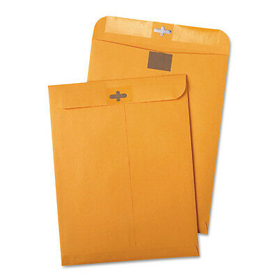 Quality Park - Postage Saving ClearClasp Brown Kraft Envelopes, 9 x 12, 100/Box