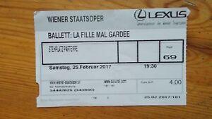 La Fille Mal Gardee Ballet ticket Wiener Staatsoper Feb 2017 Vienna S.O. Austria