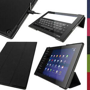 Cuir-PU-Etui-Housse-Smart-Case-pour-Sony-Xperia-Z2-10-1-SGP511-Tablet-Flip-Cover