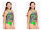 GIRLS JUSTICE GEOMETRIC ONE SHOULDER TIERED TANKINI SWIM SUIT MULTIPLE SIZES NWT
