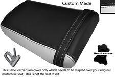 Blanco Y Negro Custom encaja Honda Cbr 600 Rr3 RR4 03-04 Trasera de piel cubierta de asiento