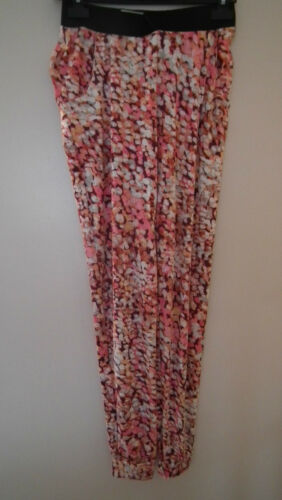 BNWT Purple and Pink Patterned Trousers From Silk
