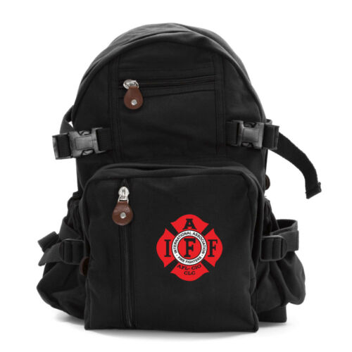 IAFF International Association of Fire Fighters Army Canvas Backpack