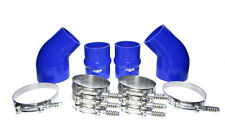 2001 FITS Dodge Cummins® INTERCOOLER BOOT KIT BLUE SILICONE KIT STAINLESS CLAMPS