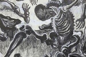 Alexis-Hinsberger-1907-1996-Scena-Macabre-62x50-cm-Carthagene-Morto-Scheletro