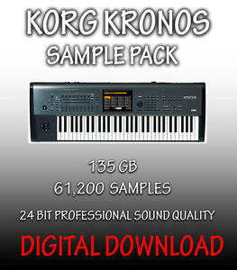 Details about KORG KRONOS SAMPLES IN WAV FORMAT, 61,200 SAMPLES, 135GB  **DIGITAL DOWNLOAD**