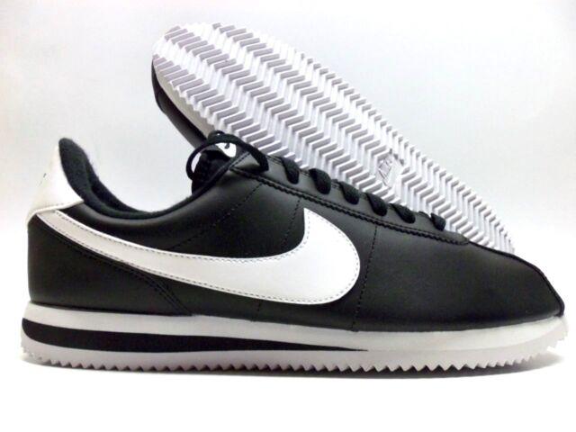 brand new 7d30e 04266 Nike Cortez Basic Leather Mens Size 11.5 Shoes Black White Silver 819719 012