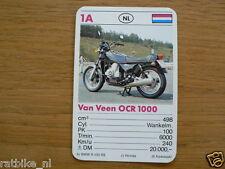 10-MOTOREN 1A VAN VEEN OCR 1000 WANKEL KWARTET KAART MOTORCYCLES, QUARTETT,