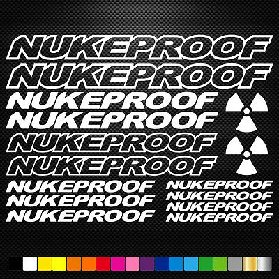 Compatible Nukeproof Vinyl Decal Sheet Bike Frame Cycle Cycling Bicycle Mtb Road