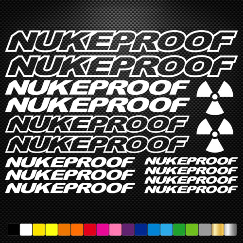 Nukeproof Vinyl Decals Stickers Sheet Bike Frame Cycle Cycling Bicycle Mtb Road