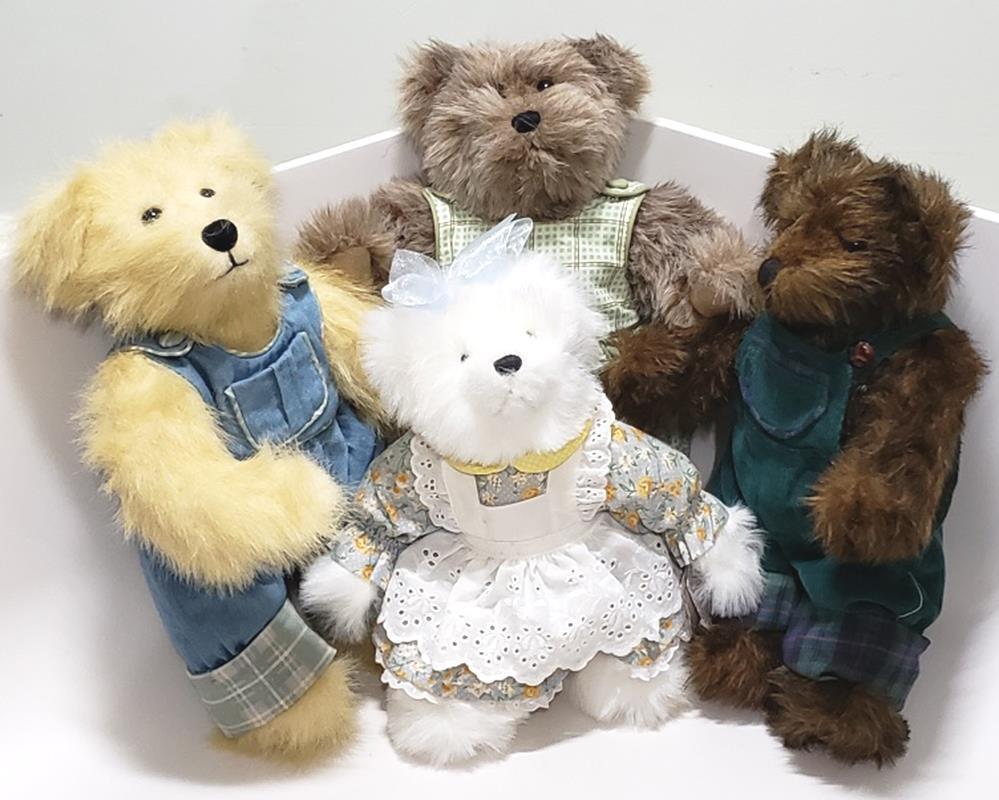 LOT of 4 TEDDY BEARS ASHTON DRAKE by ETTA FORAN & PAT JOHO & JOAN DAVIES signed